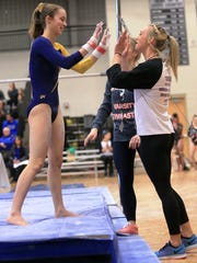 Northville gymnast Erin McCallum, who was seventh in
