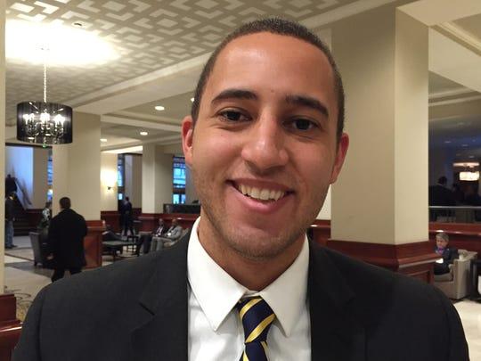 Ithaca Mayor Svante Myrick at the U.S. Conference of Mayors in Washington.