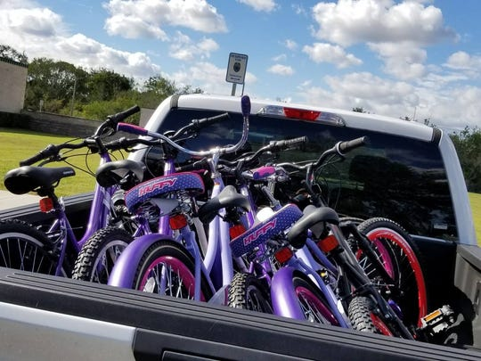An anonymous donor gave six brand news bikes to middle