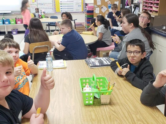 Students at Madison Elementary School in Manitowoc