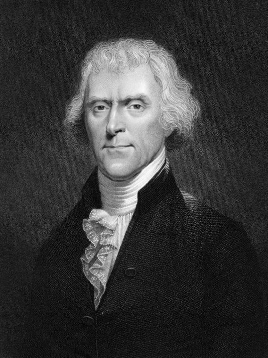 Portrait of American President Thomas Jefferson