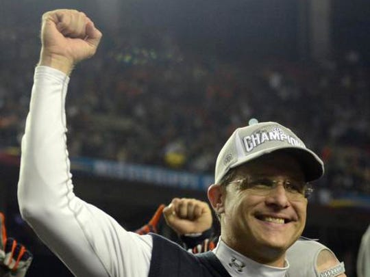 Gus Malzahn's Auburn team will not repeat as SEC Champions.