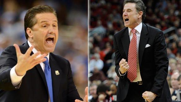 Kentucky's John Calipari and Louisville's Rick Pitino meet in major Sweet 16 clash.
