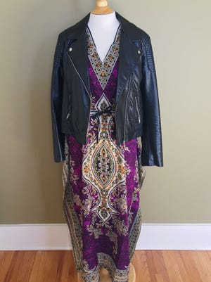 This caftan came from a street market in St. Marteen. Layer a slip or leggings underneath and add a leather jacket to extend your wear of this summer staple.