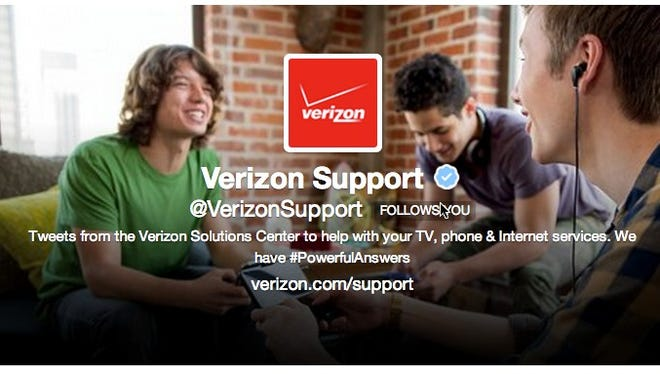 Verizon's Twitter page