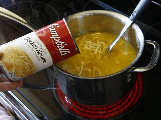 APTOPIX Earns Campbell Soup