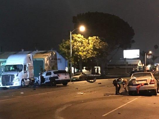 A Port Hueneme man was seriously injured in a crash
