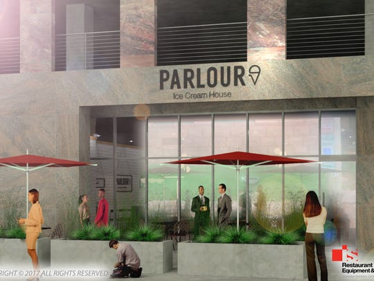 The exterior of Parlour Ice Cream House in Washington