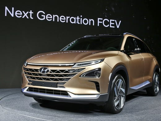 Hyundai Showed Off A New Hydrogen Fuel Cell Sport Utility