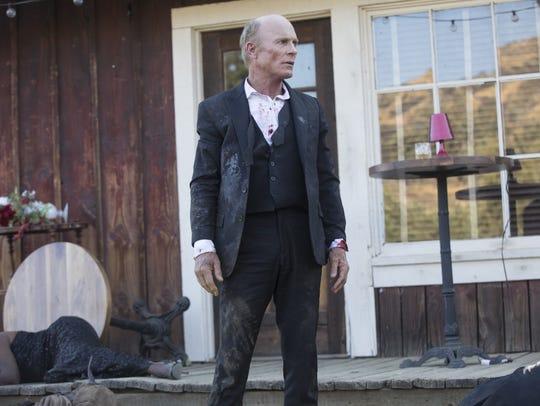 "Ed Harris as William, aka the Man in Black, on ""Westworld."""