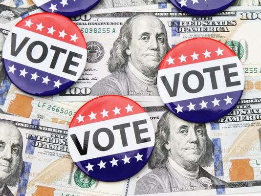 Election money stock image