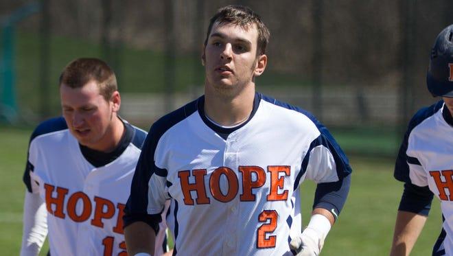 Marshall High School graduate Ryan Konkle recently set the Hope College single-season record for RBIs.