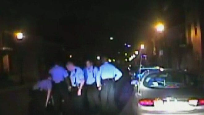 Dash cam video shows the arrest of Cortez Bufford in St. Louis on April 10, 2014.