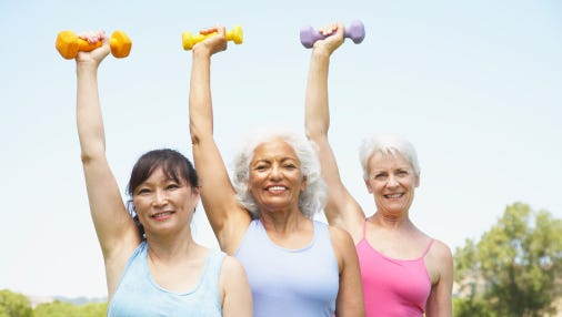 Women benefit from exercise at any age.