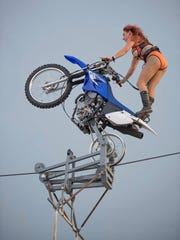 Circus Una will being their highwire act to Delmarva Bike Week in September 2016.