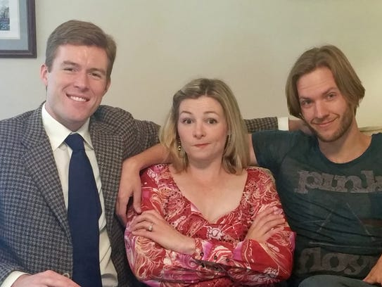 From left, Jonathan Cable, Kelsey Landon, and Brett