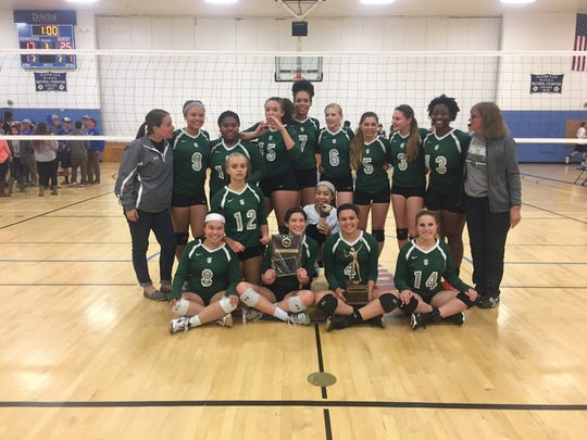The Spackenkill volleyball team poses after winning the Mid-Hudson Athletic League title on Wednesday.