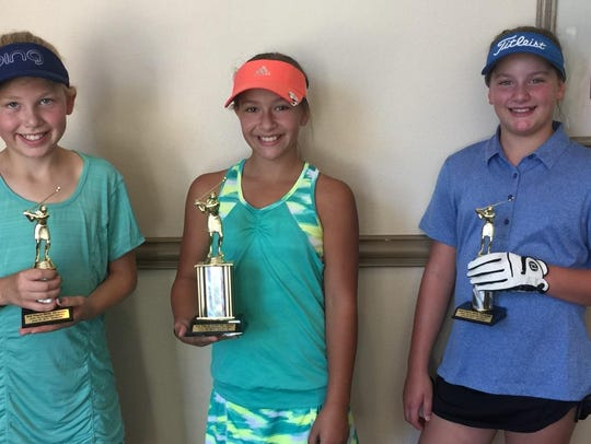 Lucy Dixon (center) took first place in Tuesday's JAG