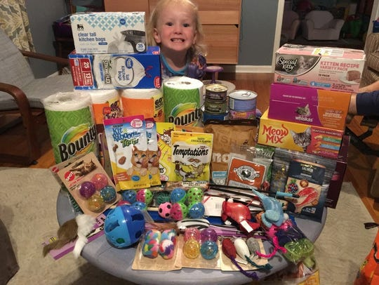 These are some of the donations that Cora Pogge received