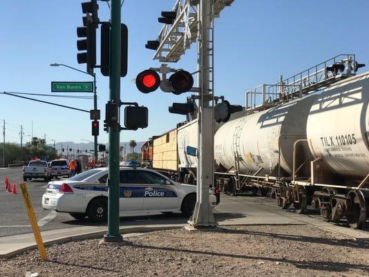 Train strikes pedestrian in Phoenix