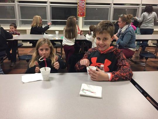 The children enjoyed hot cocoa during Milanesi School
