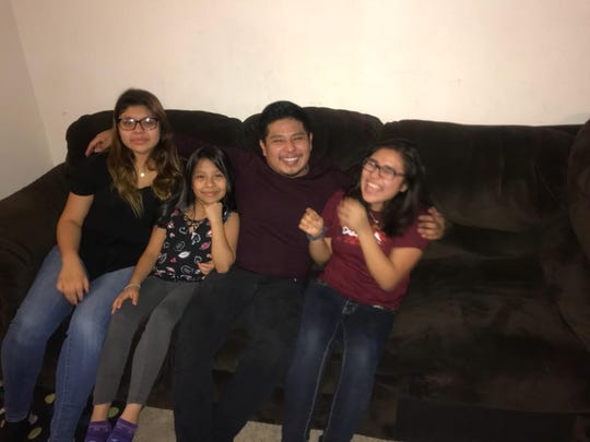 Jose Eduardo Gil Robles, of  Minnesota, with three sisters. His DACA was revoked after he was arrested for driving with a cancelled license.