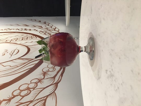 """Blou Ferrigno,"" made with Asbury Gin, housemade blueberry-mint"