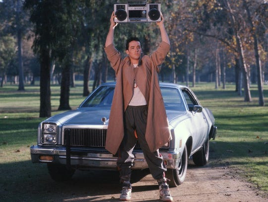 "John Cusack in a scene from ""Say Anything."""