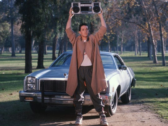 """John Cusack in a scene from """"Say Anything."""""""