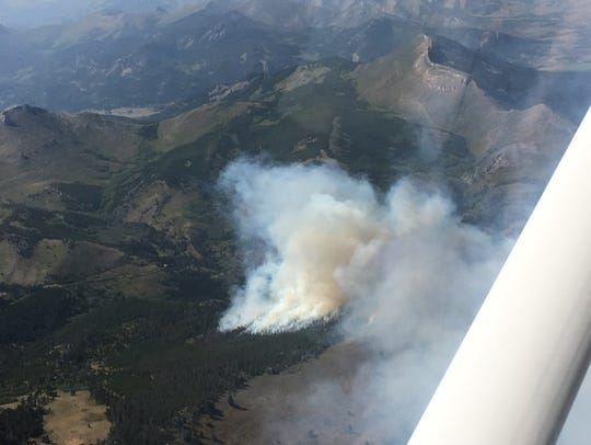 The Cuniff fire southwest of Augusta made a good run