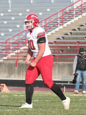 Brandon Crawford of Colon was named First-Team AP All-State for this past season as a defensive lineman.