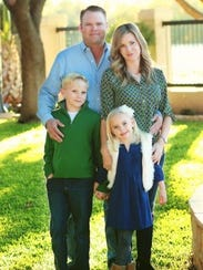 The Cole family: Sterling and Alicia Cole and their