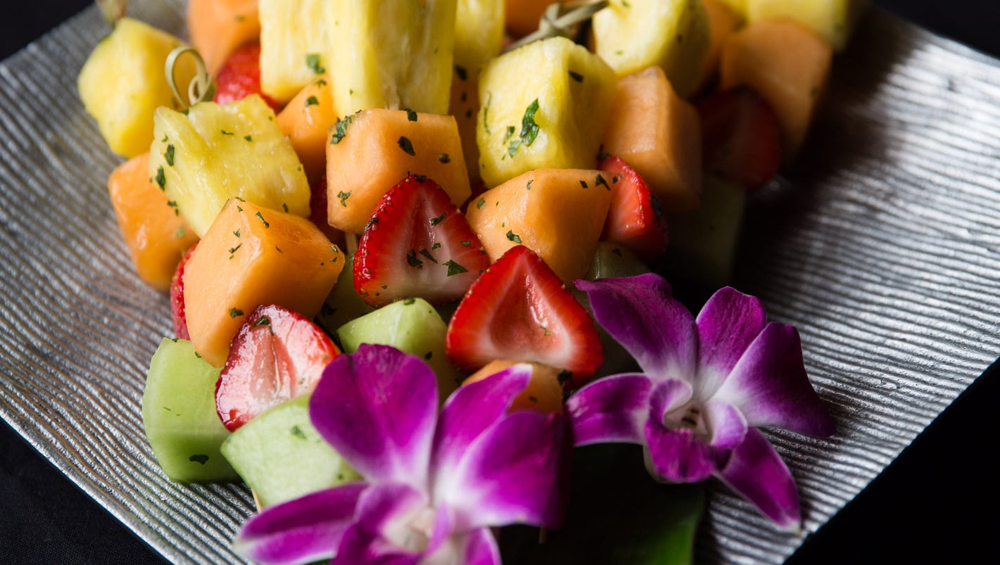 the brown hotel recipe for bourbon and mint fruit skewers   cook's