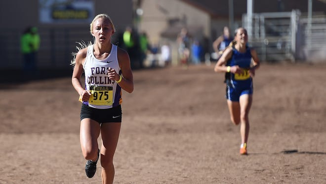 Fort Collins High School's Lauren Gregory, shown at last season's state cross country meet. The three-time state champion has verbally committed to run in college at Arkansas.