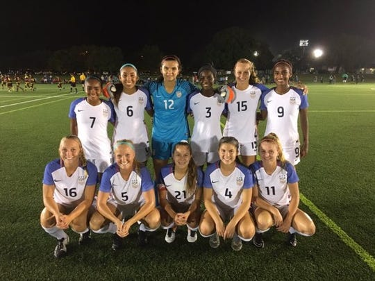 Izzy Rodriguez (No. 4) is pictured with the rest of