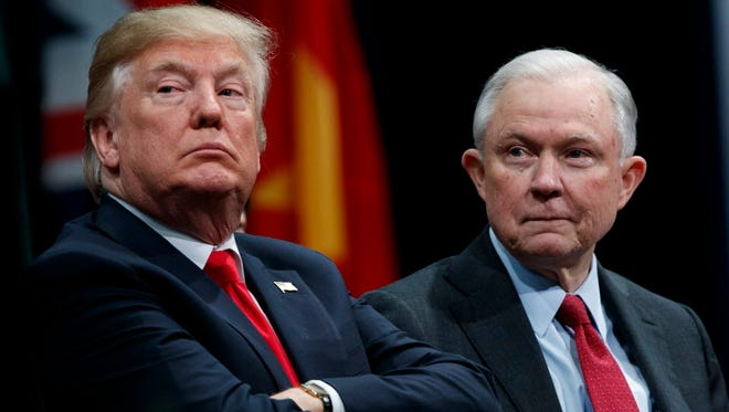 President Trump and Attorney General Jeff Sessions