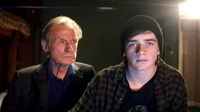 "Bill Nighy, left, and Louis Healy star in ""Sometimes Always Never."""