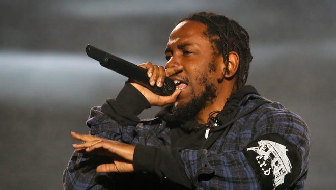 In this Oct. 2016 photo, Kendrick Lamar performs on the second day of the Austin City Limits Music Festival in Austin, Texas.