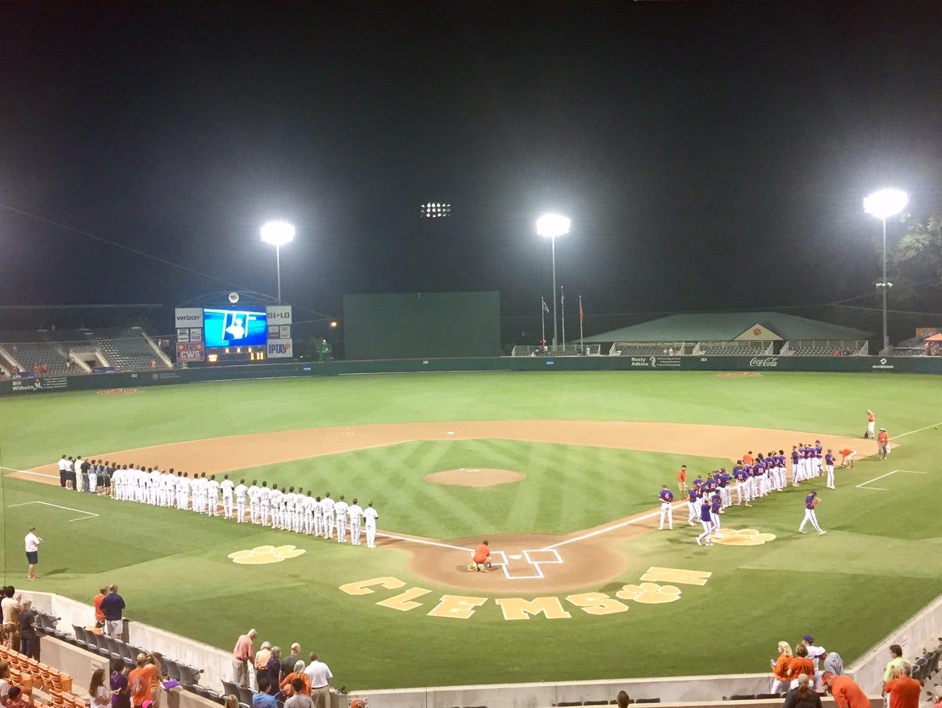 Clemson vs. Vanderbilt in an NCAA Regional final Sunday night in Clemson, S.C.