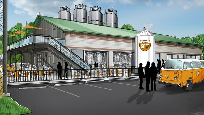 A rendering of the planned Fifty West Brewing Company expansion.