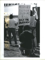 People have hated the incinerator for a long time. This protest happened in 1990.