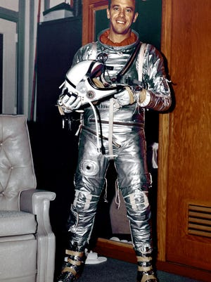 In 1971, Rear Admiral Alan Bartlett Shepard Jr. (1923-1998) walked on the moon. He was astronaut, naval aviator, test pilot and businessman.