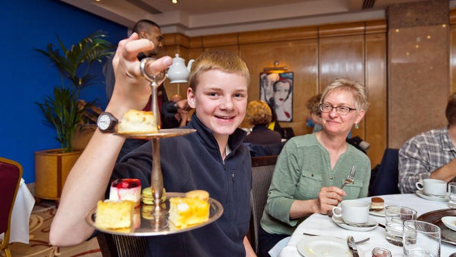 Teens can appreciate Europe's finer things, such as afternoon tea at London's Mayfair Hotel.
