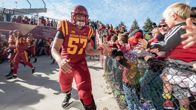 Colin Newell used to be one of those kid Iowa State fans. Now, he's the Cyclones' starting center -- as a freshman