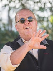 Chef Mario Batali talks about his life experiences at the azcentral.com Food and Wine Experience on November 5, 2016 at Salt River Fields at Talking Stick.