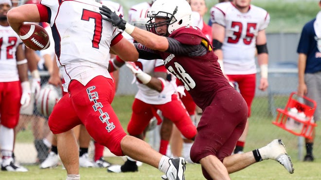 Cumberland's Nathan Jernigan, right, a sophomore, was named first-team All-Mid-South West Conference.