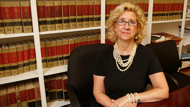 Laura Barbieri, an attorney with Advocates for Justice, in her Manhattan office