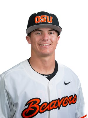 Freshman third baseman Cadyn Grenier has started every game for the Beavers and his hitting .385.