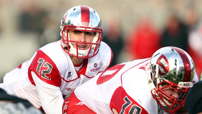 Western Kentucky quarterback Brandon Doughty (12) is tied for third place in the FBS in touchdown passes (15) through five games.