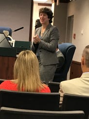 Collier County Judge Janeice Martin speaks at mental
